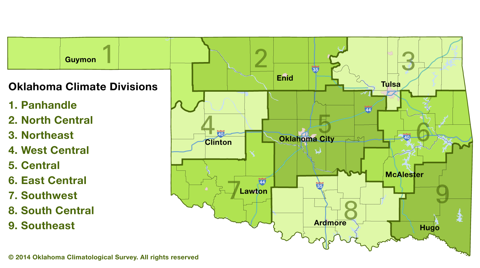 Oklahoma Climatological Survey | Map of Oklahoma climate divisions on us map ok, city of kingfisher ok, oklahoma map sallisaw ok, city of norman ok, geography of ok, text of ok, county map ok, weather of ok, oklahoma map woodward ok, city of haskell ok, oklahoma map mcalester ok, drawing of ok, city of hartshorne ok, google maps mustang ok, city of ada ok, city of tulsa ok, sort of ok, city of ryan ok, city of del city ok, area code map tulsa ok,