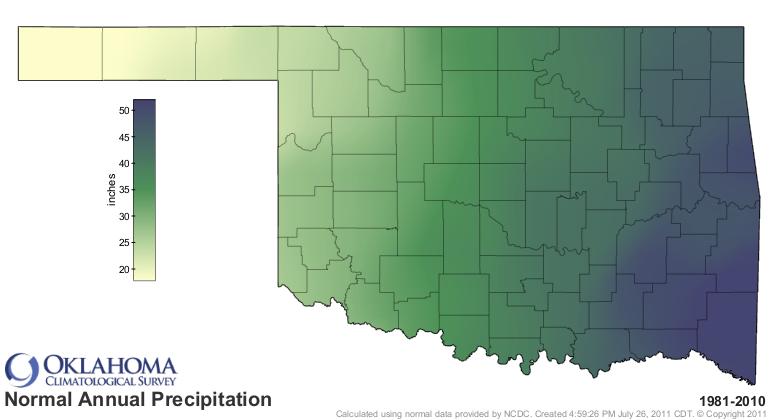 Mountains In Oklahoma Map.Oklahoma Climatological Survey