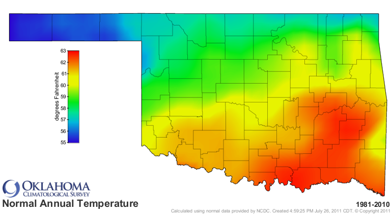 Oklahoma Wind Map.Oklahoma Climatological Survey